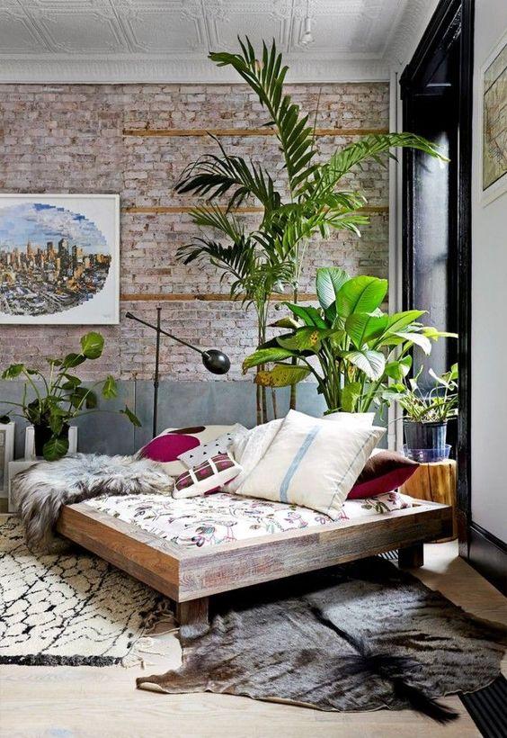 comfy green interiors