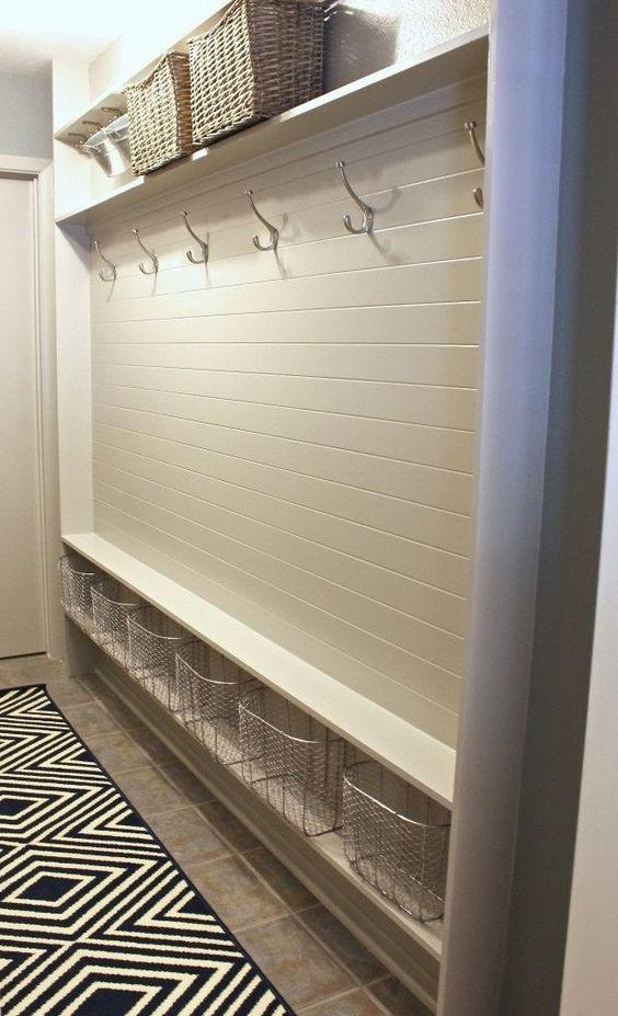 hallway storage design