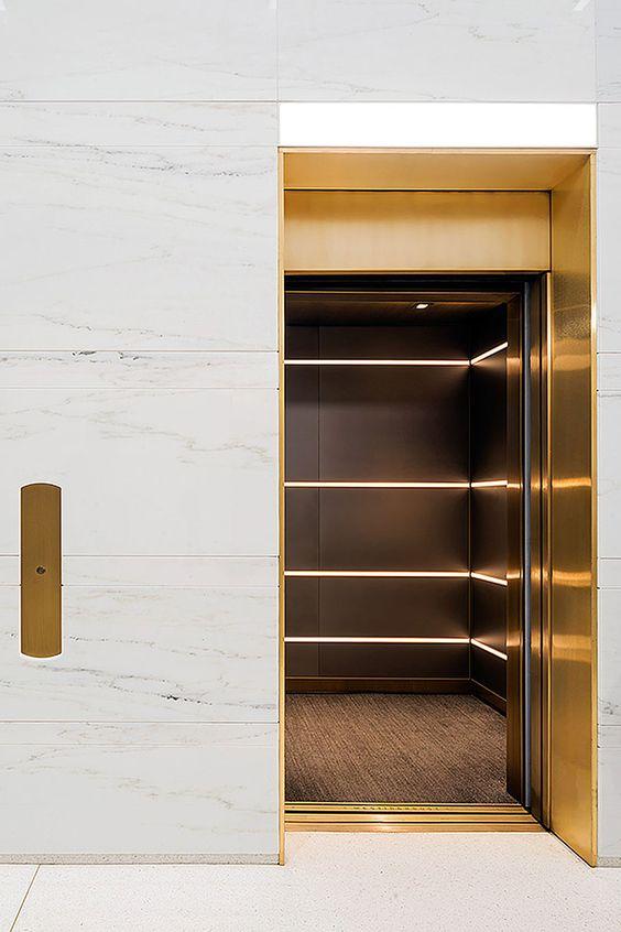 modern marble elevator